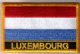 Luxembourg Embroidered Flag Patch, style 09.